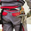 Construction worker on construction site — Stock Photo #14027279