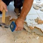 Renovate and refurbish the bathroom — Stock Photo