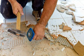 Renovaci a rekonstrukci koupelny — Stock fotografie