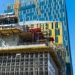 Construction of an office building — Stock Photo