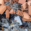 Stock Photo: Construction debris at construction site