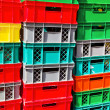 Plastic crates — Stock Photo