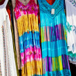 Stock Photo: Clothes on a market stall