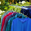 Laundry hung out to dry — Stock Photo