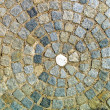 Paving stones with circle - Stock Photo