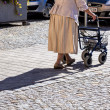 Woman with a walker - Stock Photo