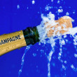 Royalty-Free Stock Photo: Champagne bottle is opened