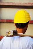 Construction worker on construction site — Stock Photo