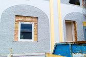 Odnowione okna i renvoviertes — Zdjęcie stockowe
