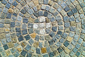 Paving stones with circle — Stock Photo