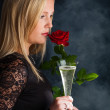 Woman with champagne — Stock Photo #14049558