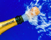 Champagne bottle is opened — Stock Photo