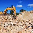 Stock Photo: House demolition