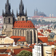 Prague, city and skyline view from the powder tower - ストック写真