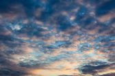 Wolkenstimmung evening sky — Stock Photo