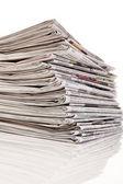 La pile de vieux journaux et magazines — Photo