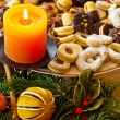 Cookies and biscuits for christmas — Stockfoto