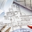 Blueprint of a house. construction — Stock Photo
