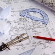 Blueprint of a house. construction — Stock Photo #14876319