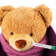 Teddy bear with thermometer — Stock Photo #14876727