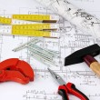 Blueprint of a house. construction — Stock Photo #14877951