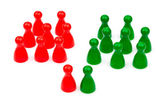 Red-green coalition government — Stock Photo