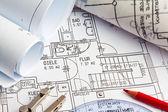 Blueprint of a house. construction — Stock Photo
