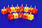 Všechno nejlepší k narozeninám kerzern — Stock fotografie