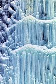 Frozen waterfall in winter — Stock Photo