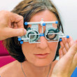 Royalty-Free Stock Photo: Vision test at the optician / eye doctor