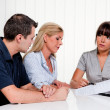 Discussion at a consultation — Stock Photo #14896781