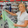 Stock Photo: Woman when purchasing clothing