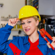 Foto Stock: Mechanic in workshop
