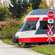 Stock Photo: Unbeschrankter crossing