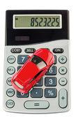 Car and calculator — Stock Photo