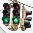 Stock Photo: Traffic light with green light