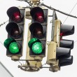 Traffic light with green light — Stock Photo