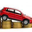 Stock Photo: Declining profits in car sales