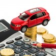 Cost of car. with calculator — Stock Photo #18261951