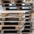 Stock Photo: Stacked pallets