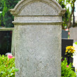 Stock Photo: Grave stone in cemetery