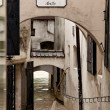 Floods and flooding in steyr, austria — Stock Photo