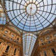 Galleria vittorio emanuele in milan, italy — Stock Photo