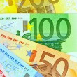 A fan with euro notes — Stock Photo