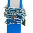 File folders locked with chain — Stock Photo #18266795