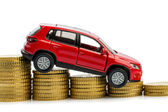 Declining profits in car sales — Stock Photo