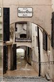 Crues et inondations à steyr, autriche — Photo
