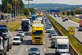 Atasco de tráfico en autopista — Foto de Stock