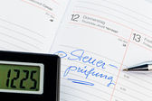 Entry in the calendar: tax audit — Stock Photo