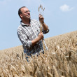 Farmer - farmer in the cereal box. — Stock Photo
